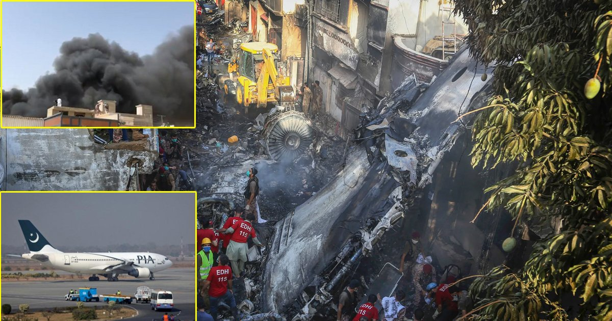 gsgsdgsdg.jpg?resize=1200,630 - Breaking: Pakistan International Airlines Plane Crashes With Over 100 On Board After 'Both Engines Failed'