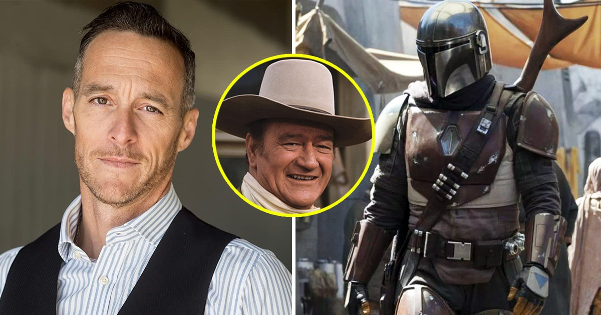 john wayne grandson.jpg?resize=412,232 - John Wayne Grandson Revealed As Man Behind Mandalorian Mask