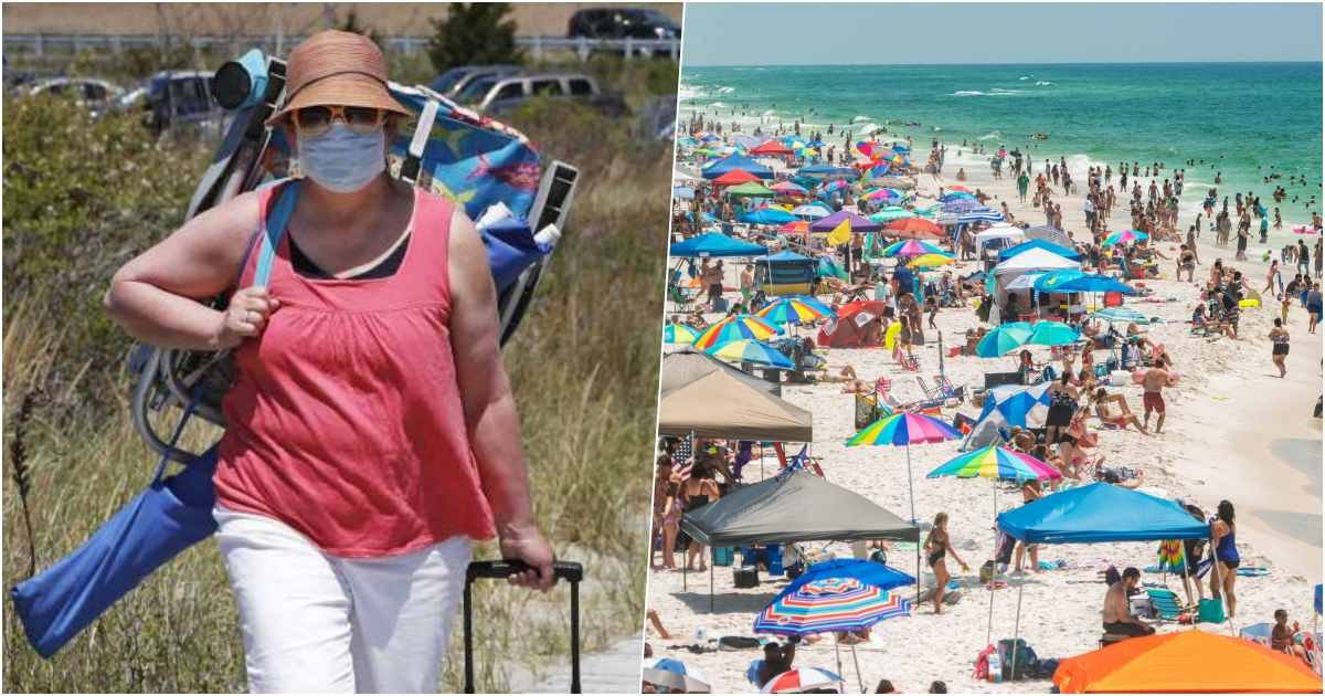 thumbnail 6.jpg?resize=1200,630 - Officials Are Sending Out Mixed Messages As Sun-Starved Americans Flocked On Beaches For Memorial Day