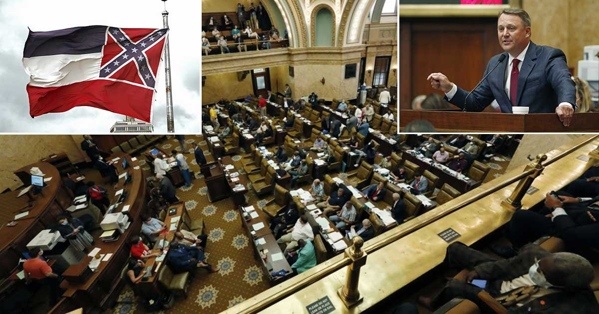 2 panel 1.jpg?resize=1200,630 - Mississippi Lawmakers Vote To Erase Confederate Emblem From State Flag