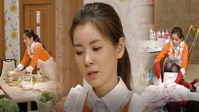 아내의 유혹 : 장서희, 밥도 못 챙겨 먹는 고된 시집살이 : SBS