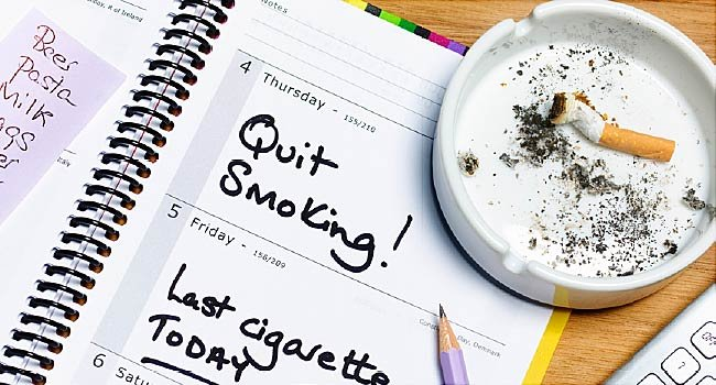 quit smoking to maintain normal blood pressure