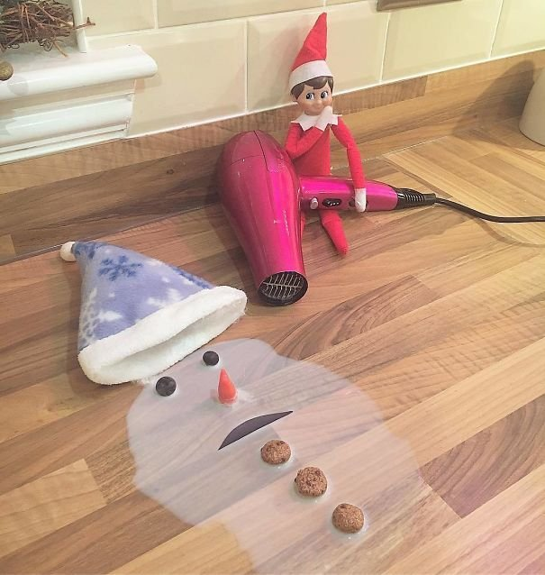 elf on the shelf funny ideas