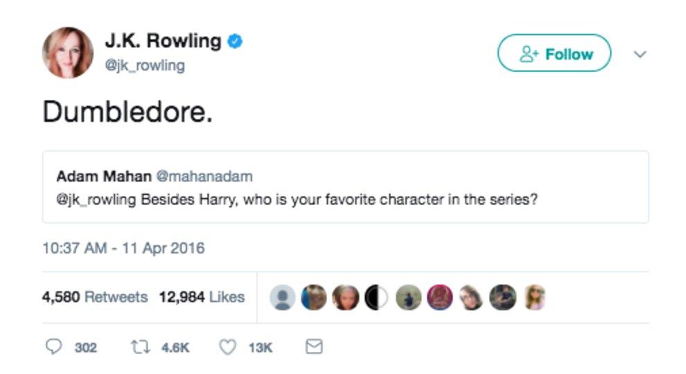 most interesting JK Rowling Tweets