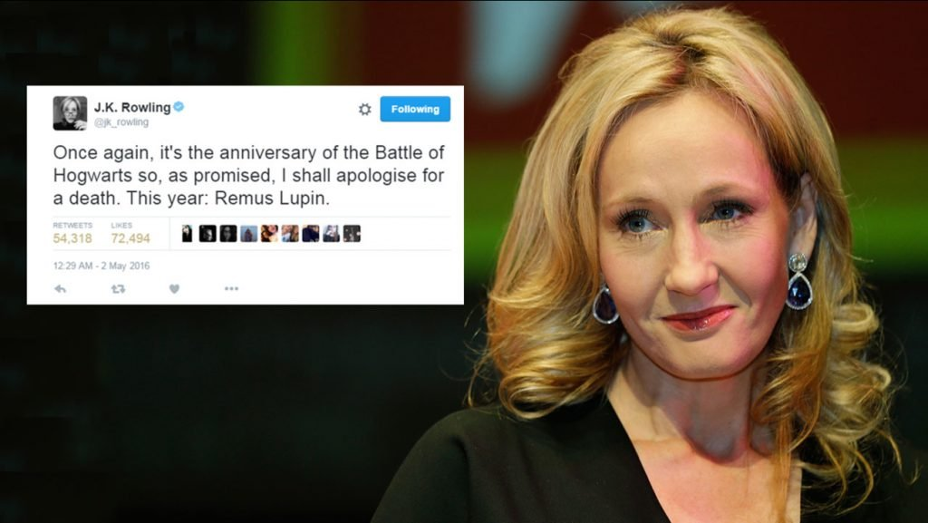 JK Rowling apologies for killing Lupin