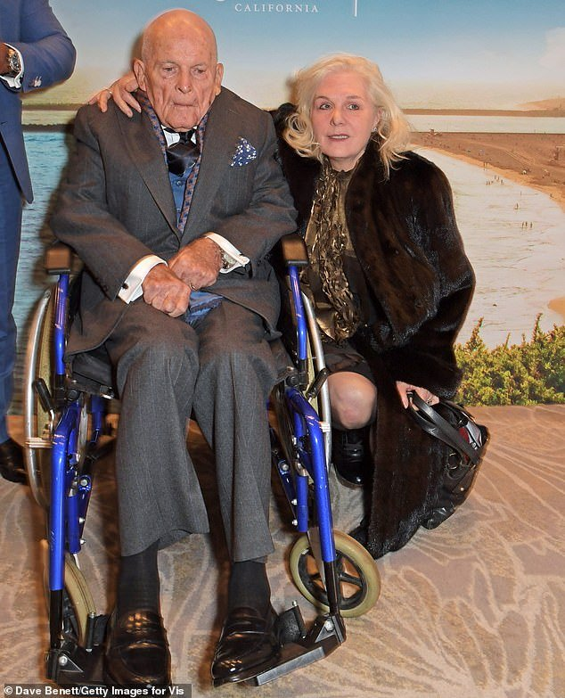 Sir Ian Holm and his wife Sophie de Stempel attend the Newport Beach Film Festival in January this year