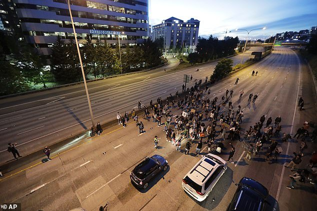 The George Washington incident took place on the 21st day of protests in the city. Thousands of protesters have filled the streets of Portland every night for three weeks following Floyd