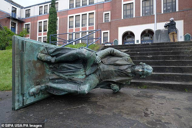 It comes after a statue of Thomas Jefferson that was based outside Portland