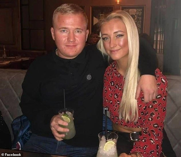 Mr Hepple with his partner, Megan Rambadt, who tweeted that her town was