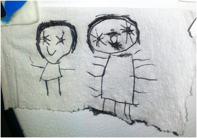 creepy kids drawings