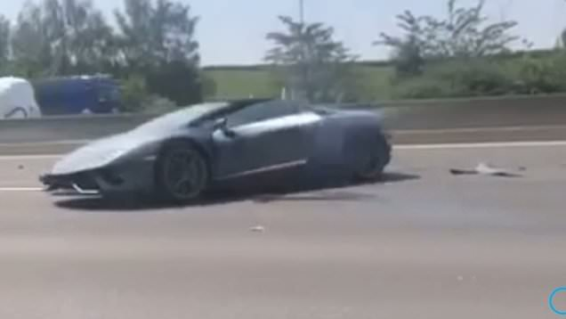 Brand new Lamborghini written off after breaking down on the ...