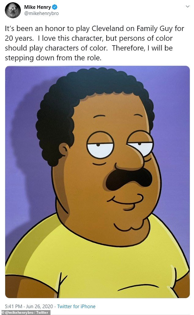 Henry announced his decision to no longer play Cleveland Brown on Friday evening