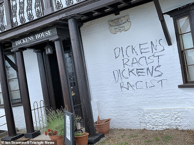 Dickens House, a museum in Broadstairs, Kent, dedicated to the Victorian author, was daubed with graffiti by Mr Driver over the weekend