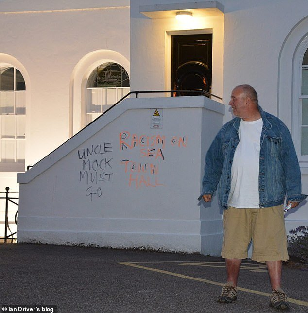Mr Driver (pictured) admitted daubing the graffiti in the seaside town of Broadstairs