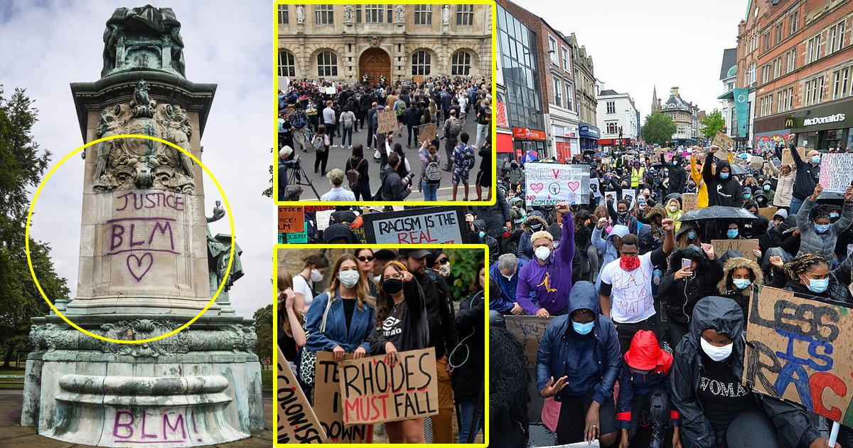 blm london.jpg?resize=412,232 - UK Prepares For Transformation As BLM Activists Demand Removal Of 60 Racist Statues