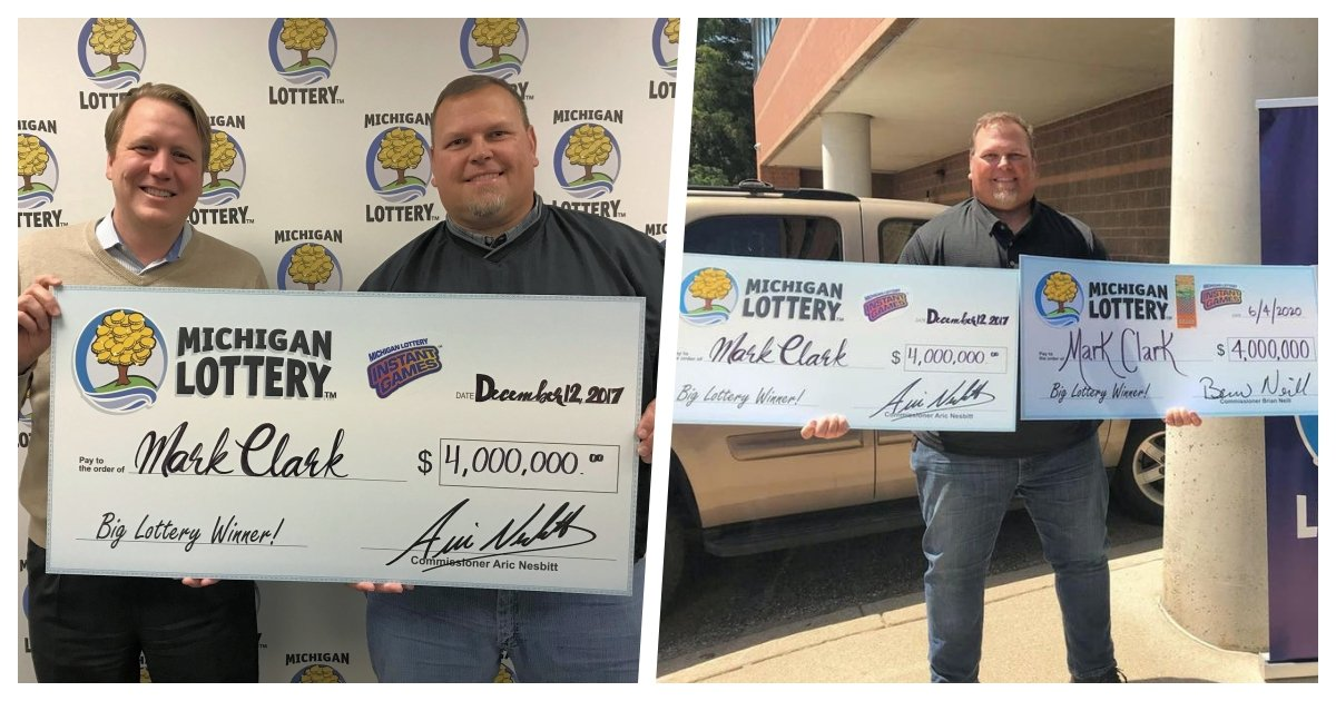 collage 84.jpg?resize=1200,630 - A Michigan Man Won His Second Lottery Jackpot in 3 Years