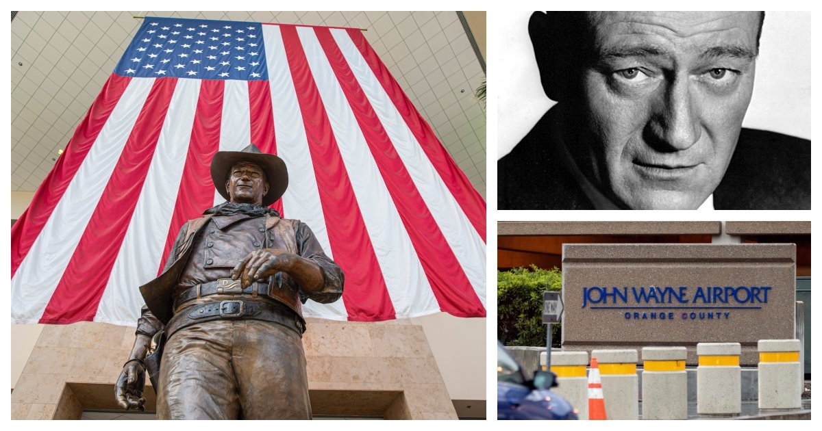 collage 88.jpg?resize=1200,630 - California Activists Mobilize To Rename John Wayne Airport Citing Wayne's Racism and Homophobia