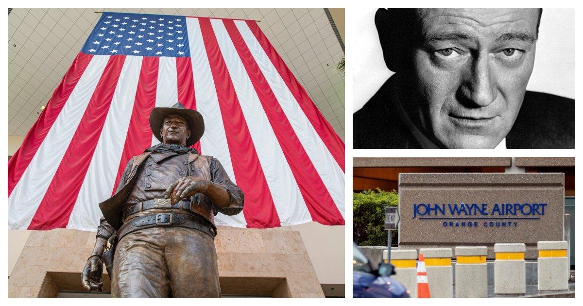 collage 88.jpg?resize=412,232 - California Activists Mobilize To Rename John Wayne Airport Citing Wayne's Racism and Homophobia