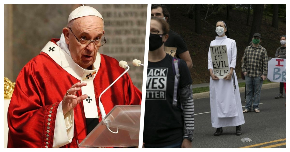 """collage 9.jpg?resize=412,275 - Pope Francis Says Death of George Floyd is """"Tragic"""" and Calls For Reconciliation and Peace"""