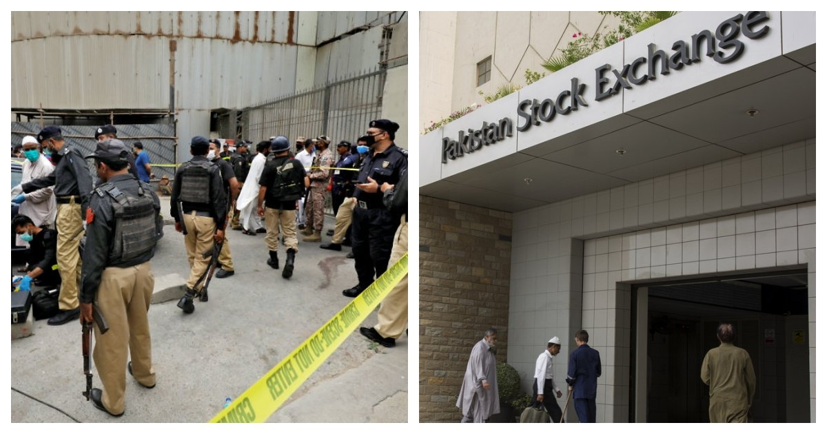 collage 90.jpg?resize=1200,630 - Terrorist Attack At Pakistan Stock Exchange in Karachi Claims At Least Five Lives