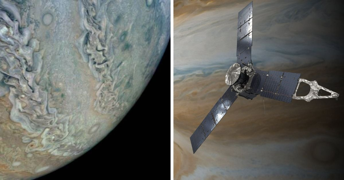 cover 7.jpg?resize=1200,630 - NASA's Juno Spacecraft Sends Mesmerizing Images Taken Near Jupiter's Cloud Tops