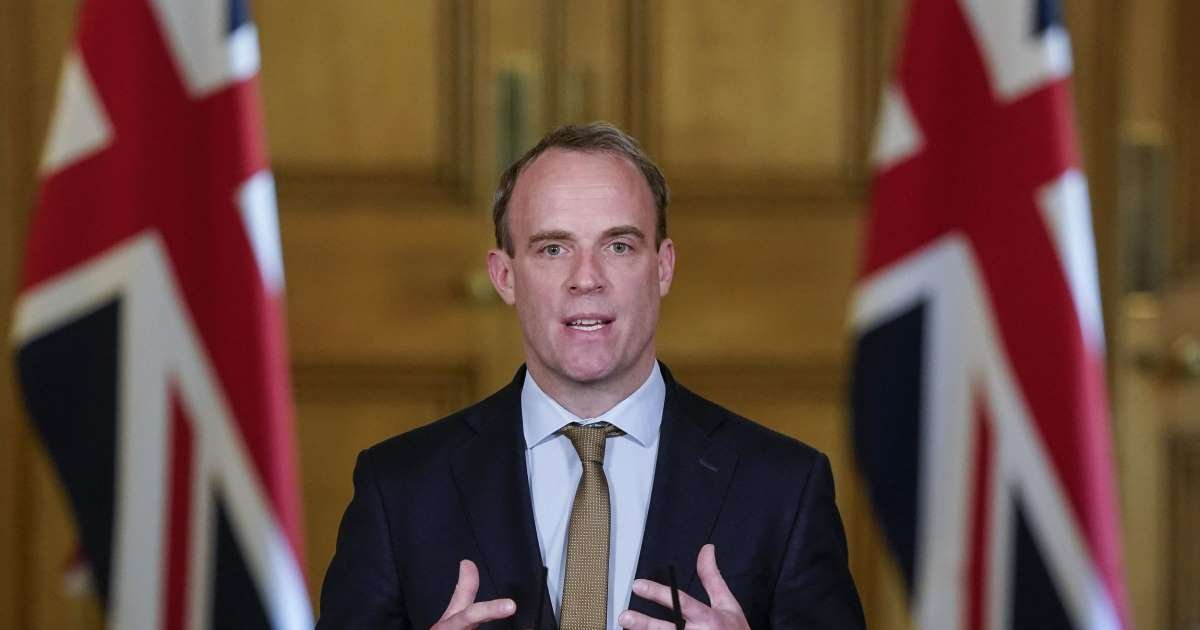 ec8db8eb84ac 1 14.jpg?resize=1200,630 - Dominic Raab Will Only Kneel For Queen And Wife - Secretary Mocks BLM