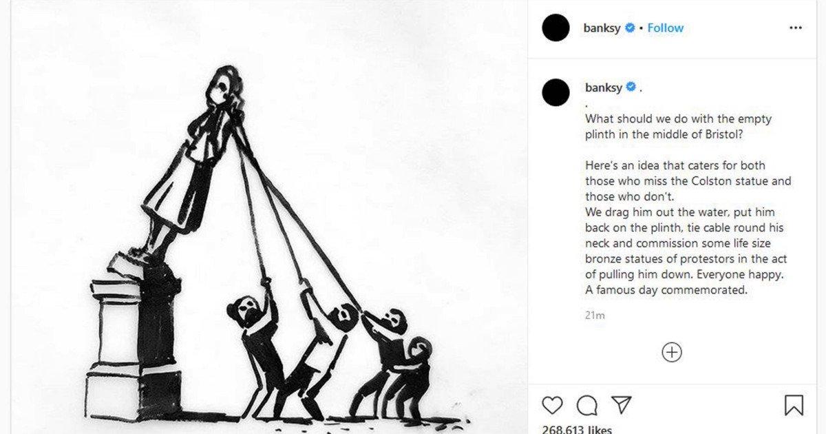 ec8db8eb84ac 1 8.jpg?resize=412,232 - Banksy Provides The Best Alternative To Taking Down Statues