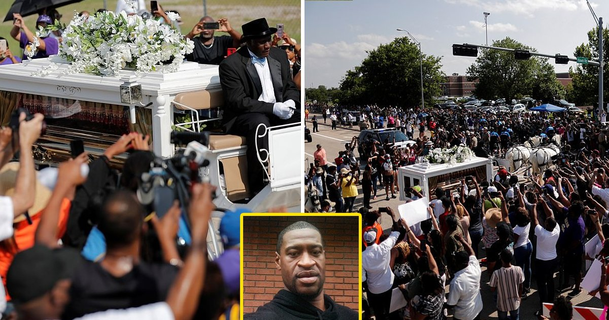 george funeral.jpg?resize=1200,630 - George Floyd Laid To Rest In Hometown Houston As Thousands Gather For An Emotional Memorial Service