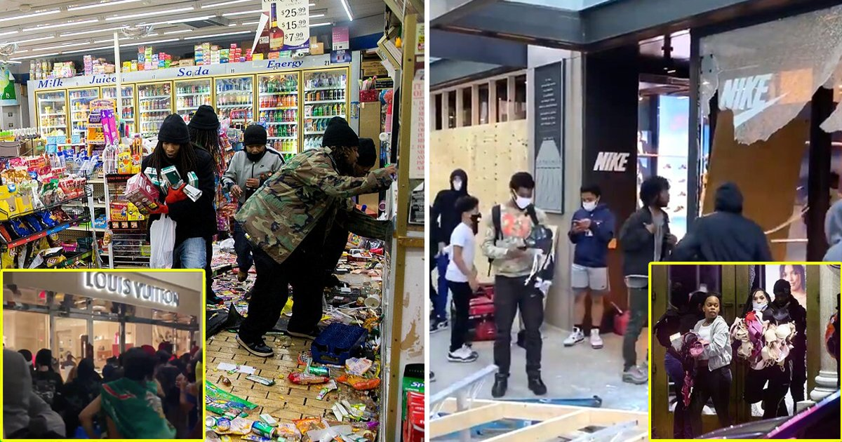 looting nyc.jpg?resize=412,232 - Worst Night Of Looting In NYC As Stores Witness Over 2,330 Burglary Incidents On Monday Night
