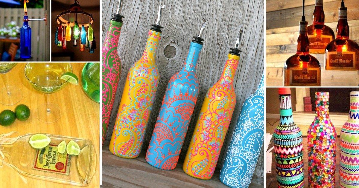 old glass bottles.jpg?resize=1200,630 - 10 Insanely Versatile DIY Projects That Upgrade Old Glass Bottles
