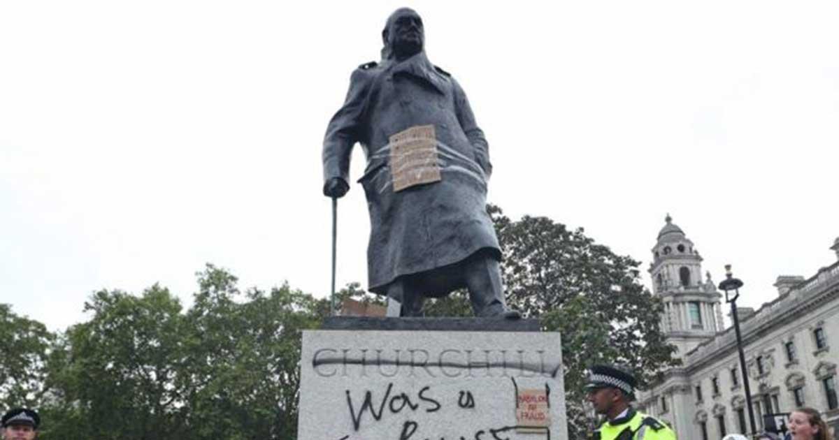 pa1.jpg?resize=412,275 - Black Lives Matter Organizer Calls To Bring Down Winston Churchill's Statue