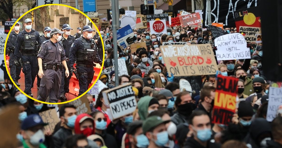 police blm.jpg?resize=1200,630 - Police Warn Black Lives Matter Protesters of Arrests, Fines Amidst Covid-19
