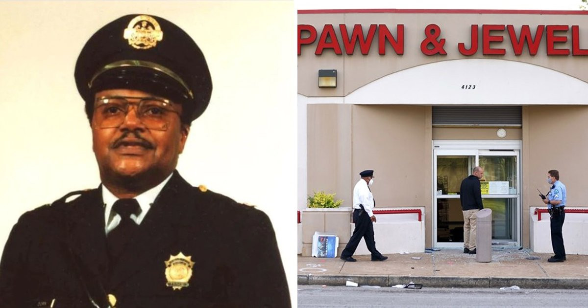 police officer.jpg?resize=412,232 - Retired Police Captain Killed Protecting Business From Looting - Caught on Facebook Live