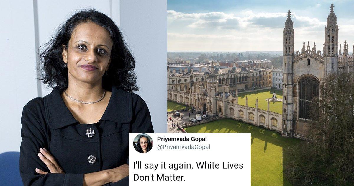 "sagdsga.jpg?resize=412,232 - Cambridge University Promotes Academic Who Tweeted ""White Lives Don't Matter"" To Professor"