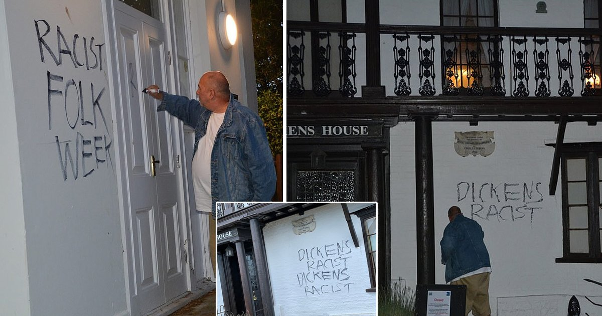 sdgsdg.jpg?resize=1200,630 - Former Councilor Admits to Vandalizing Charles Dickens Museum With 'Racist' Tag After Becoming Inspired by BLM Movement