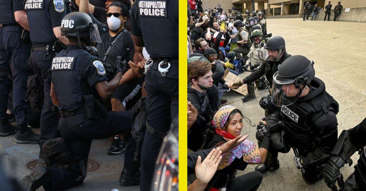 september 5 2016 arcadia football field 6 00 pm.png?resize=412,232 - Photos: les policiers américains s'agenouillent avec les manifestants