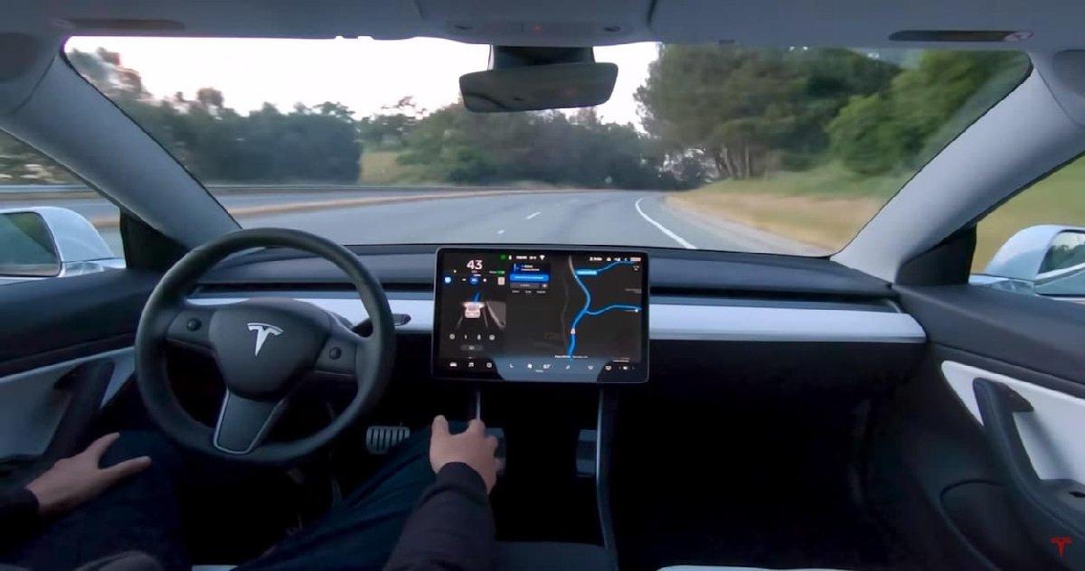 tesla.jpg?resize=1200,630 - Grâce à son pilotage semi-automatique, une Tesla a évité de justesse un sanglier