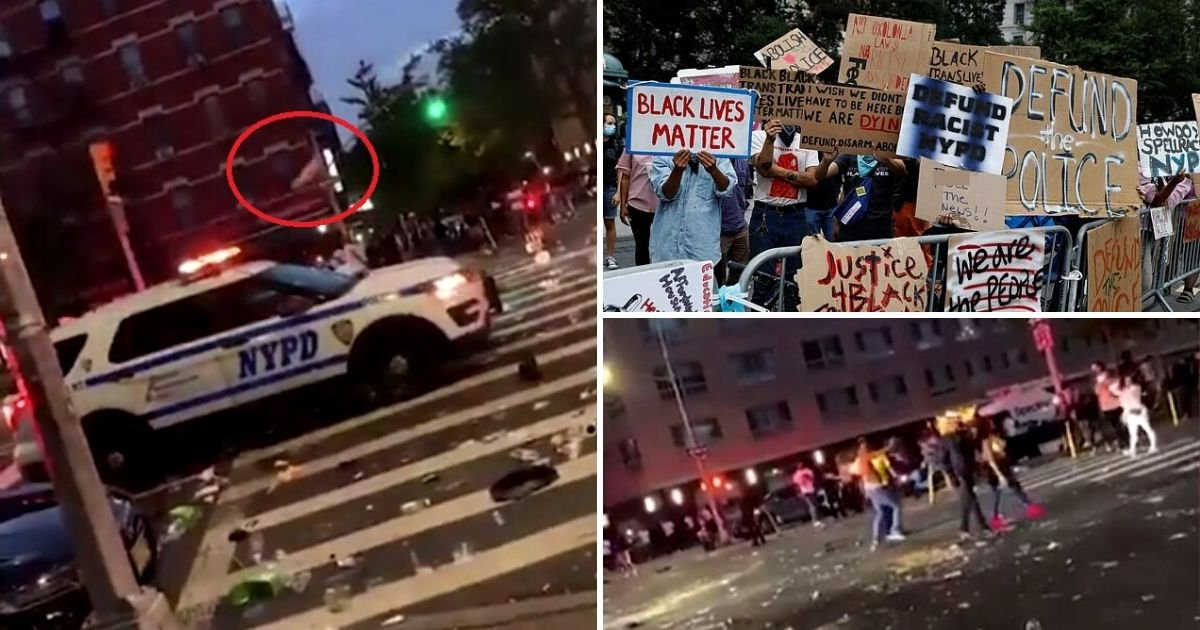untitled design 1 22.jpg?resize=412,232 - Protesters Throw Bottles At Police Car Responding To A 'Shots Fired' Call