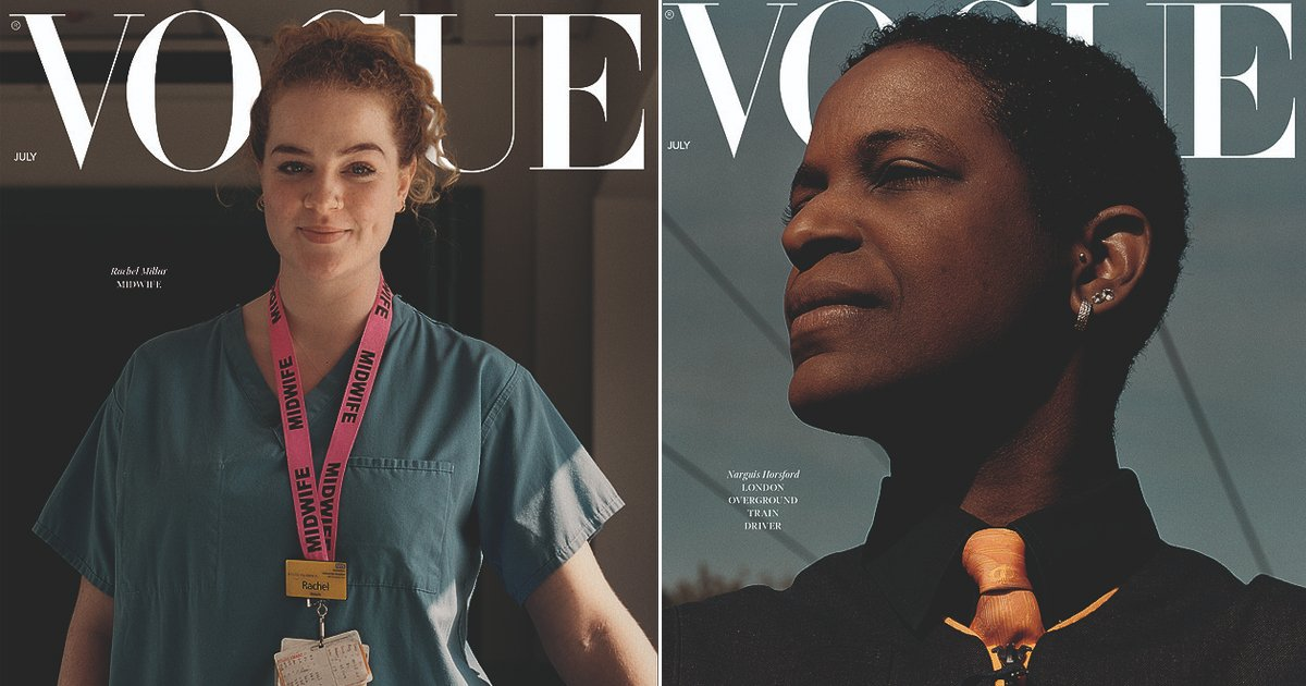 vogue.jpg?resize=1200,630 - British Vogue Replaces Supermodels With Front Line Workers On Its Front Page