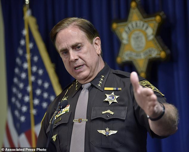 Oakland County Sheriff Michael Bouchard speaks at a news conference on Thursday to confirm one felonious assault charge each has been filed against Eric and Jillian Wuestenberg