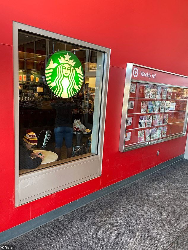The incident took place at a Starbucks location inside a Target store in Midway in St. Paul