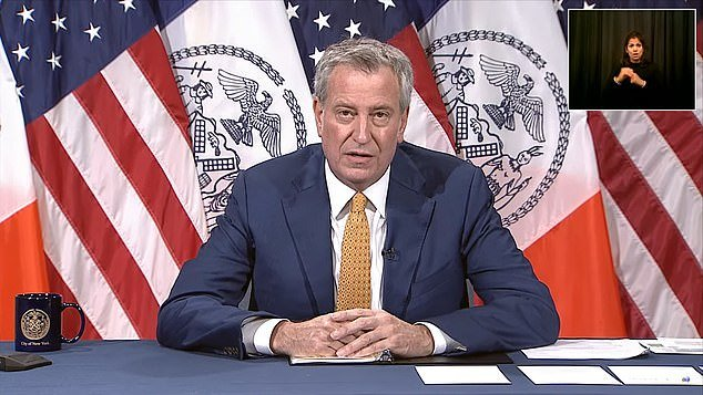 Mayor Bill de Blasio canceled all events requiring a city events permit through September 30 on Thursday.