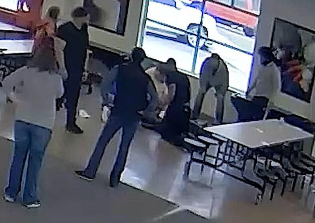Toward the end of the video, others could then be seen attempting to give Fredericks CPR. He died in hospital two days after the incident
