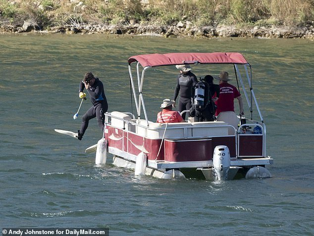 The search began after Rivera went missing on July 8 while boating with her four-year-old son Josey. The pair were swimming when Josey said Rivera didn
