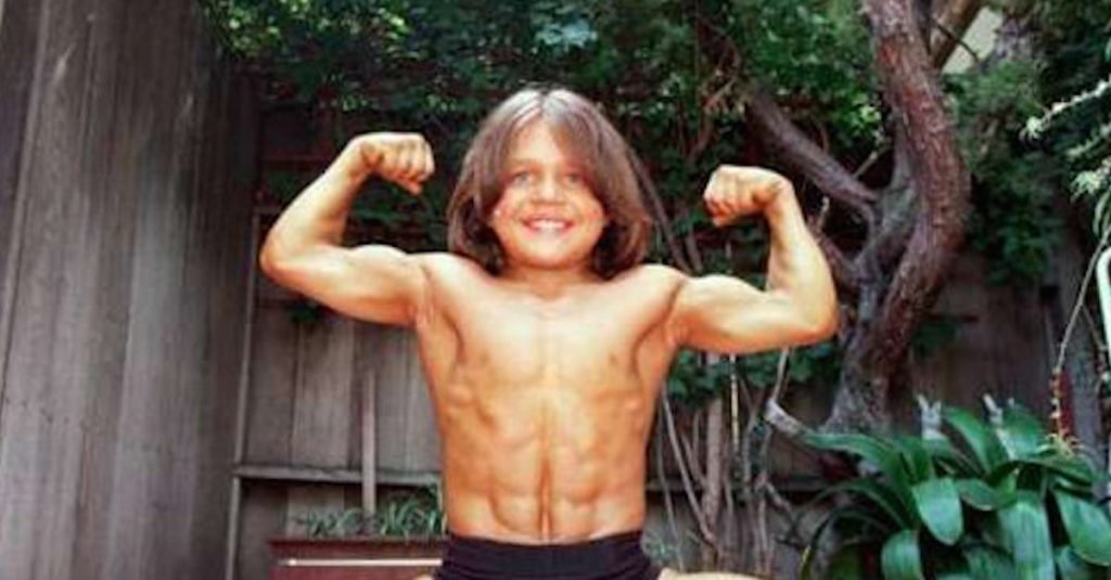 the young muscle boy