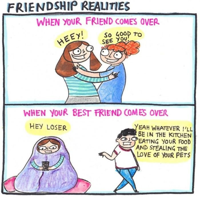 Friends coming over vs. your best friend coming over. | Friends ...