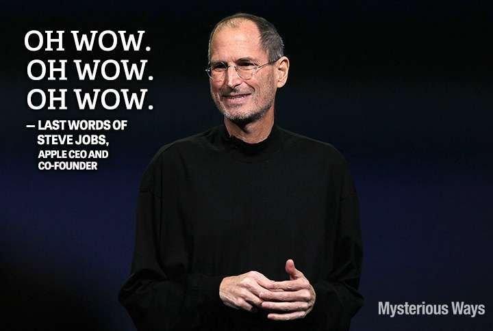 Famous Last Words | Famous last words, Words, Steve jobs