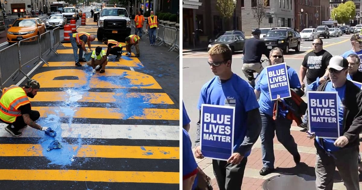 6 49.jpg?resize=1200,630 - Pro-Police Groups Want To Paint a 'Blue Lives Matter' Mural In New York City Too