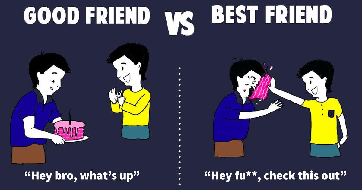 best friend vs friend.jpg?resize=1200,630 - 10 Friends Vs Best Friends Hilarious Differences You Should Know