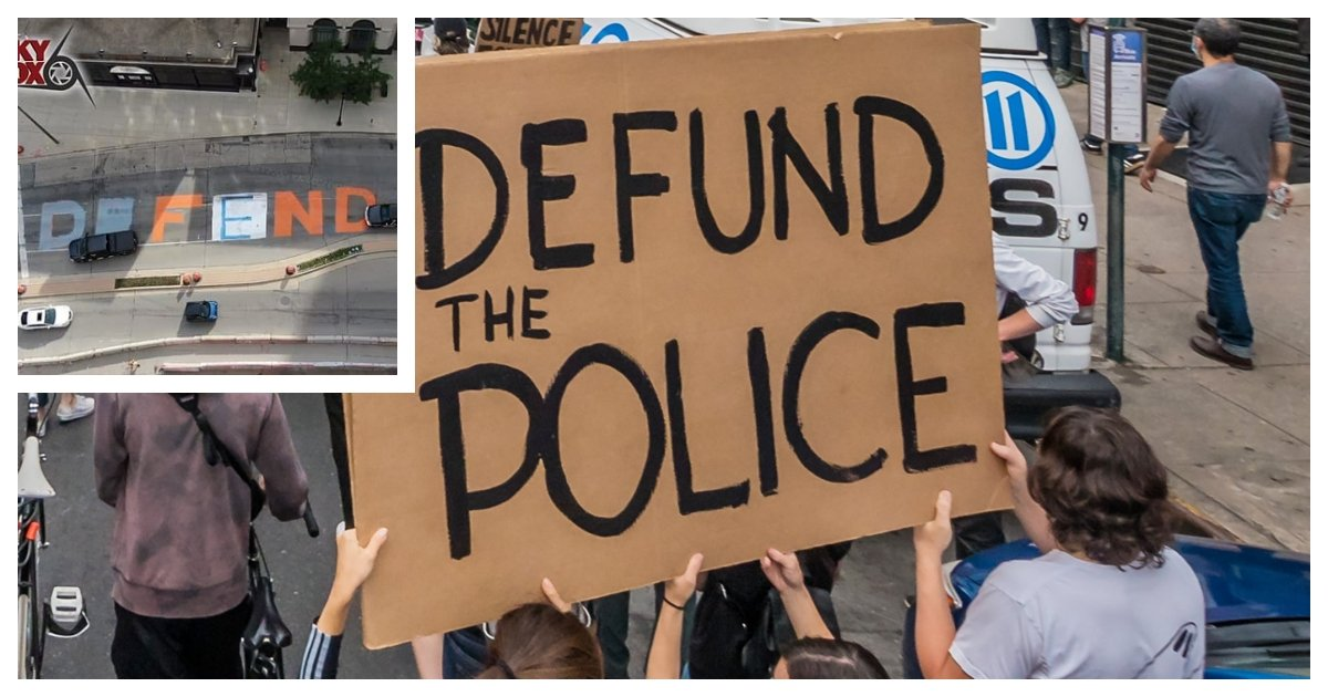 collage 14.jpg?resize=300,169 - Pro-Police Protestors Tampered With Mural To Spell Defend - Not Defund - The Police